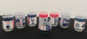 Lot of 8 Apollo Glasses