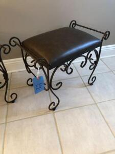 "vanity stool (14""x19""x24"") - metal base"