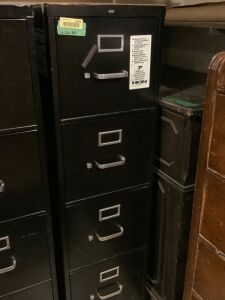 HON 4 drawer filing cabinet on wheels
