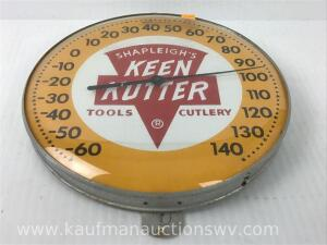 SHAPLEIGH'S KEEN KUTTER Tools and cutlery Advertising thermometer