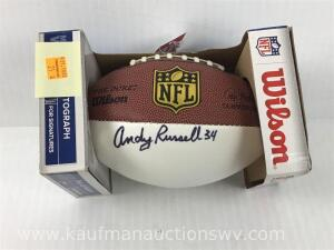 Pittsburg Steelers Andy Russell 34 autographed football