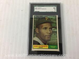 1961Tops number 388 Bob Clemente graded baseball card