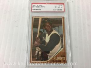 1962 tops Bob Clemente graded baseball card number 10