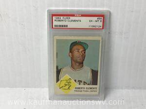 1963 FLEER Robert Clemente Pittsburg Pirates-out Field