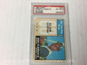 1968 Topps Roberto Clemente All Star sports collector card