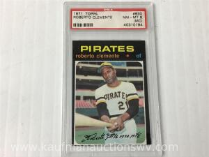 1971 Topps Roberto Clemente sports collector card