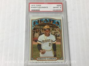 1972 Topps Roberto Clemente collector sports card