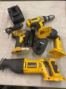 Dewalt 18 volt tools, with charger and one battery