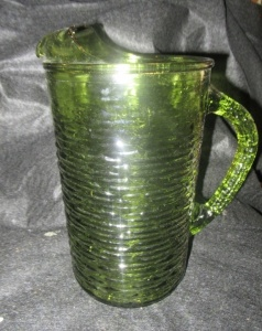 HEAVY GREEN PITCHER