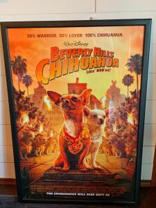 "Original Framed ""Beverly Hill's Chihuahua"" movie Poster"