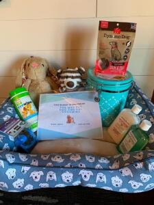 Dog Themed Bed Basket with all the extras