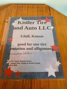 Kistler Tire and Auto LLC Tire Rotation/Alignment