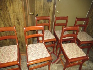 6 CHERRY CHAIRS
