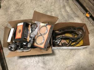 Box of Harley Davidson Parts, Electrician Belt