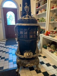Cole's MFG. Co. Chicago IL Cast Iron Wood Stove Finial Top