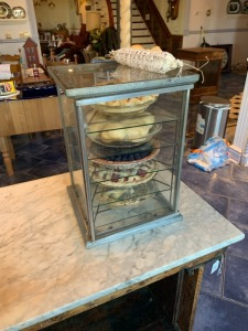 "Antique Pie Display Case - Table Talk Pastry 18"" x  13"""