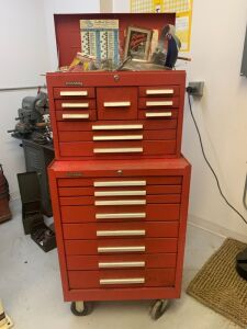 Kennedy Rolling Tool Box With Tools - Red (Workshop)