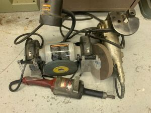 Delta Shopmaster Grinder and Stanley Cutting Shear Lot