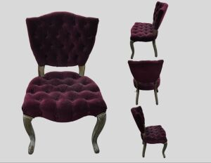 Burgundy Chair 19x33x15