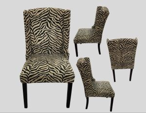 Zebra Striped Chair 23 x 41x23