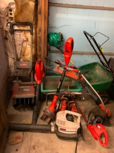 Toro Power Curve, Lawn Spreaders, Blower, Weed Eater, Misc.
