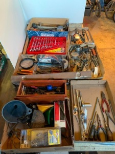 Hand tools, putty knives, wrenches, misc.