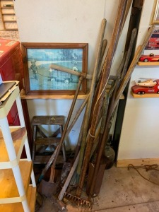 Step Ladder, Post Hole Digger, Garden Tools