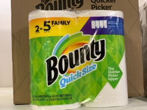 12 rolls family size Bounty paper towel