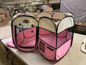petmaker pink pet carrier/cage collapsible