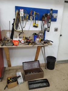 Tools near door as pictured.