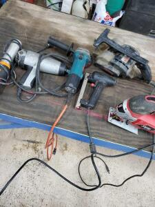 Six power tools. All in working order.