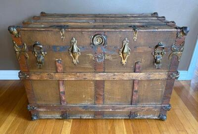 """The Drucker"" Antique Steamer Trunk"