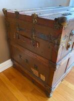 """The Drucker"" Antique Steamer Trunk - 2"