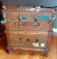 """The Drucker"" Antique Steamer Trunk - 3"