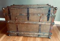 """The Drucker"" Antique Steamer Trunk - 5"