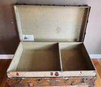 """The Drucker"" Antique Steamer Trunk - 8"