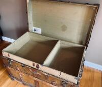 """The Drucker"" Antique Steamer Trunk - 9"
