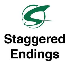 Staggered Endings- 6 lots/minute