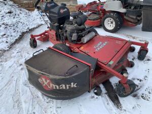 "Exmarc Turf Tracer 60"" walk behind mower with bagger 233 hours"