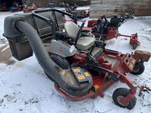 "Exmarc 60"" LazerZ zero turn mower with 2435 hours includes bagging system"