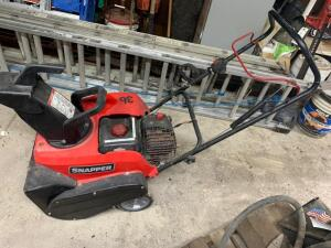 Snapper single stage snow blower