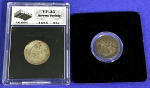 1855-1857 Seated Liberty Quarters