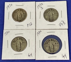1930 Standing Liberty Quarters