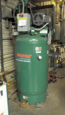 Champion Advantage Series 80 Gallon Air Compressor And Air Dryer, Model #CRN25A1, Bidder Responsible For Proper Disconnection And Removal, Hardwired In