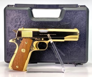 "Colt MK IV Series '70 ""Gold"" Government .45 Pistol"