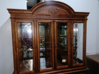 VERY NICE FORMAL CHINA CABINET, HAS LOTS OF STORAGE AND IS LIGHTED, COMES WITH GLASS SHELVING FOR INTERIOR, VERY BEAUTIFULLY MADE - 3