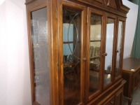 VERY NICE FORMAL CHINA CABINET, HAS LOTS OF STORAGE AND IS LIGHTED, COMES WITH GLASS SHELVING FOR INTERIOR, VERY BEAUTIFULLY MADE - 5
