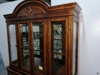 VERY NICE FORMAL CHINA CABINET, HAS LOTS OF STORAGE AND IS LIGHTED, COMES WITH GLASS SHELVING FOR INTERIOR, VERY BEAUTIFULLY MADE - 7