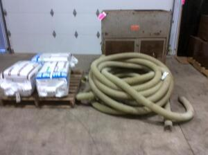 "Blown Insulation Machine with Approx. 150' 3"" Hose with 3 Bags of Insulation"