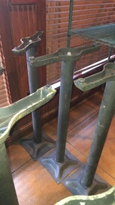 (2) pedestal table legs with 1 tabletop; tabletop was not available for photograph; tabletop will be there for pick-up